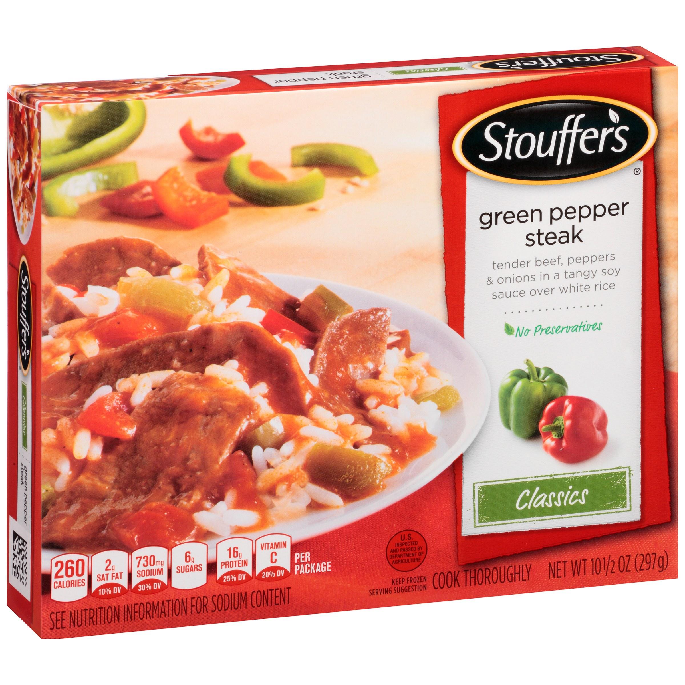 STOUFFER'S Classics Green Pepper Steak 10.5 oz Box