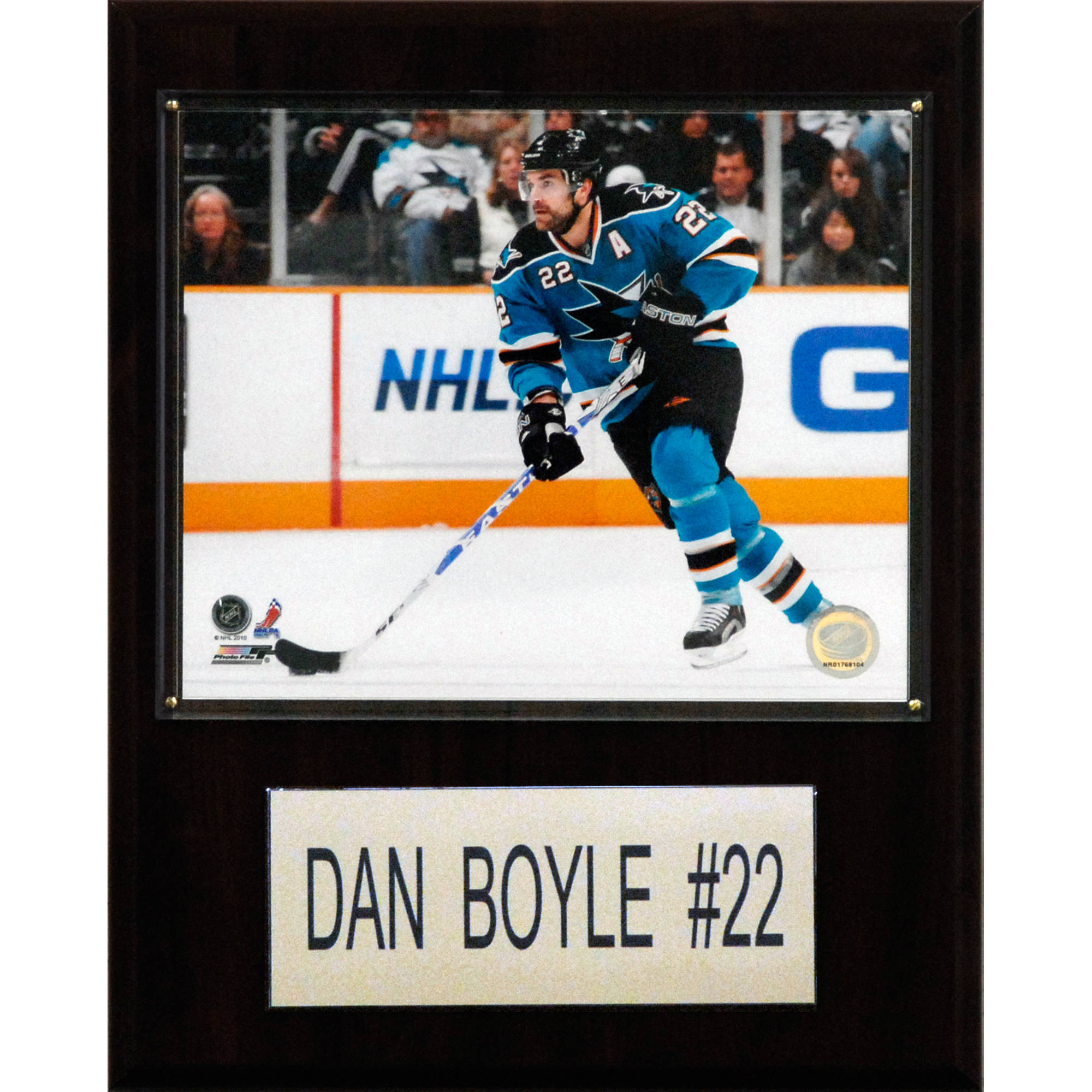 C&I Collectables NHL 12x15 Dan Boyle San Jose Sharks Player Plaque