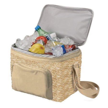 Eco-cooler (Eco-friendly) Hold 18 Cans- Natural, Made using handwoven Biodegradable wheat and cotton canvas
