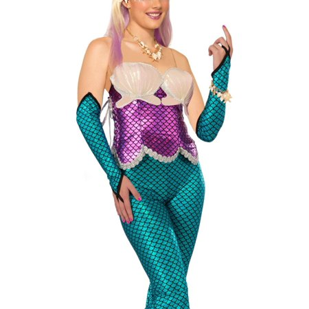 Forum Green Mermaid Corset One Size, Includes green corset