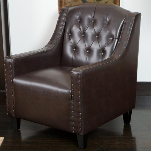 Keeper Tufted Leather Club Chair