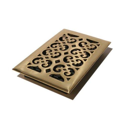 Decor Grates HS Scroll Solid Brass Floor Register