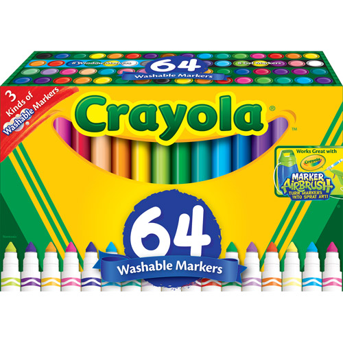 Crayola 64-Count Broad Line Markers