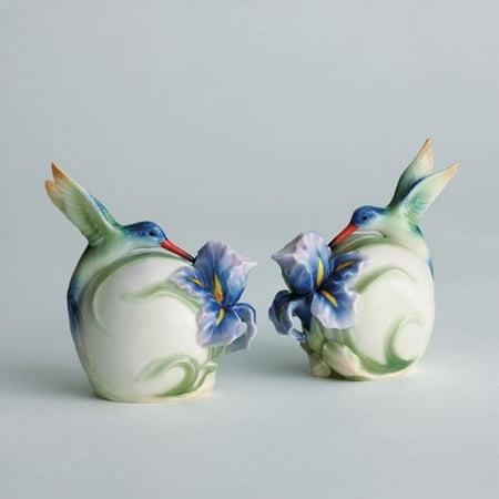 - Franz Porcelain - Salt & Pepper Shakers - Long Tail Hummingbird