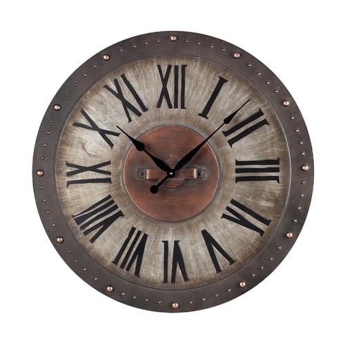 Gracie Oaks Oversized Manufahi 31 Roman Numeral Wall Clock