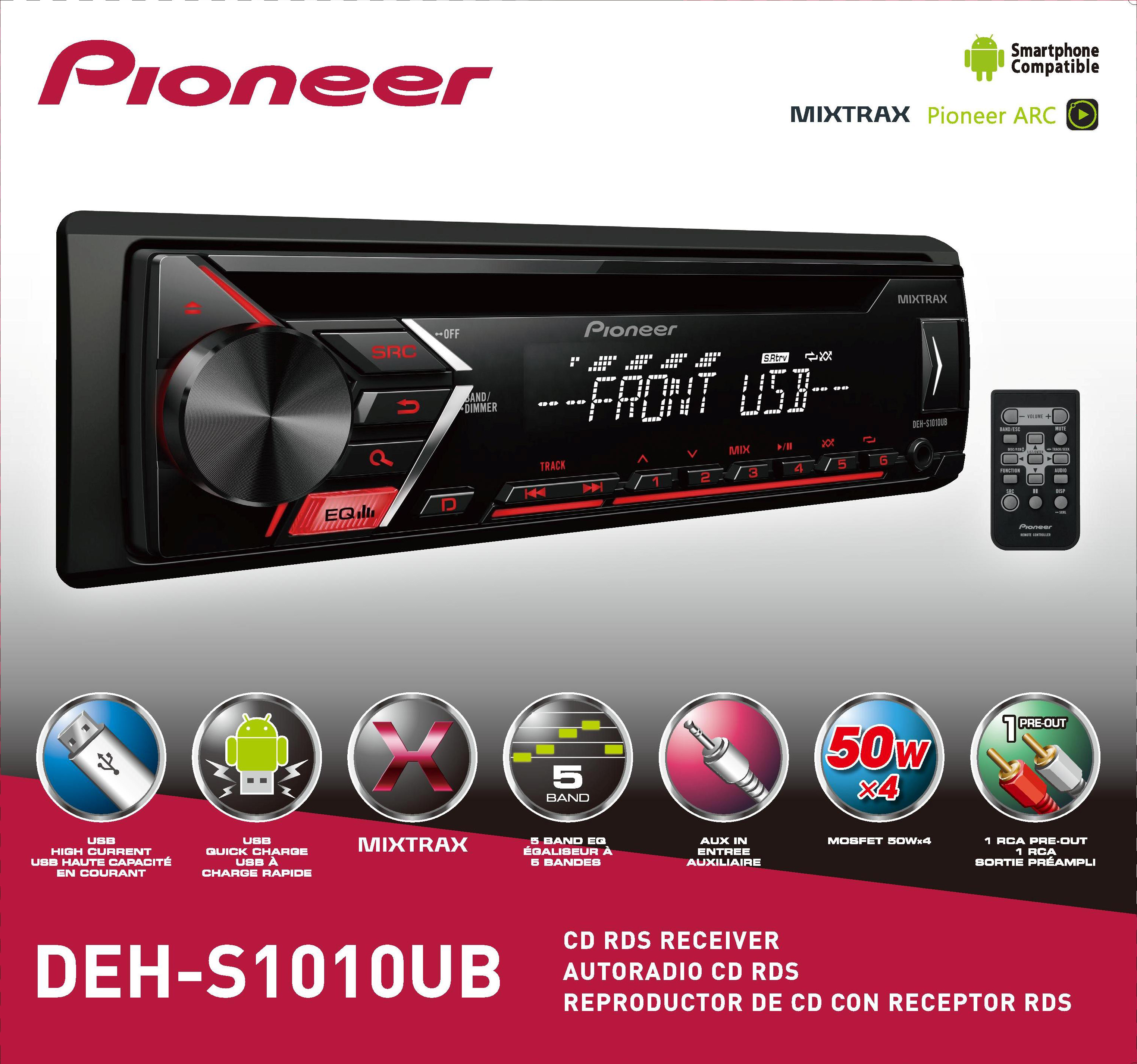 Pioneer DEH-S1010UB Single CD Receiver with USB