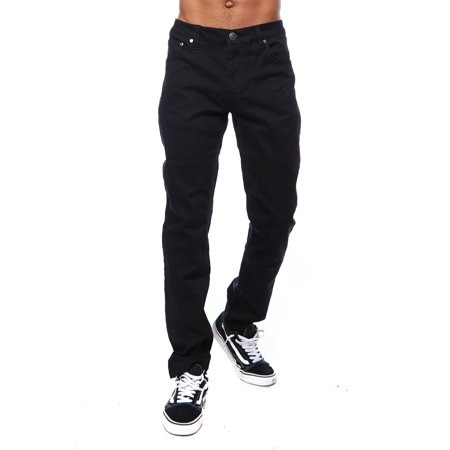 Mens Skinny Raw Hipster Hip Hop Twill Slim Cut Pants Jeans (Mens Skinny Jeans Dark Denim)