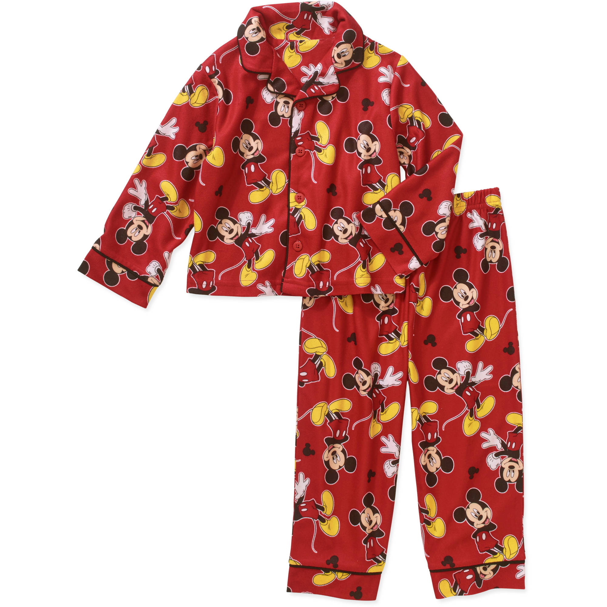 Mickey Mouse Toddler Boy Button Down Pajama Set