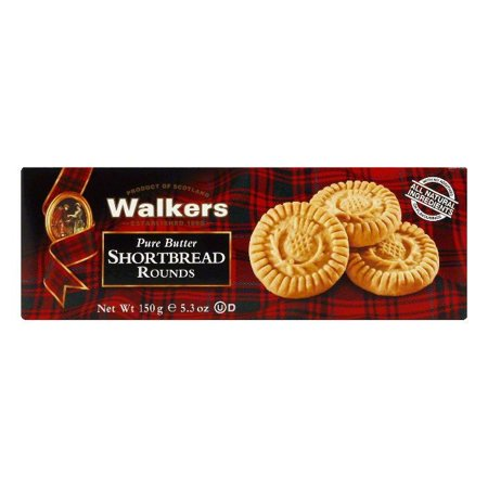 (2 Pack) Walkers Pure Butter Shortbread Rounds, 5.3 oz
