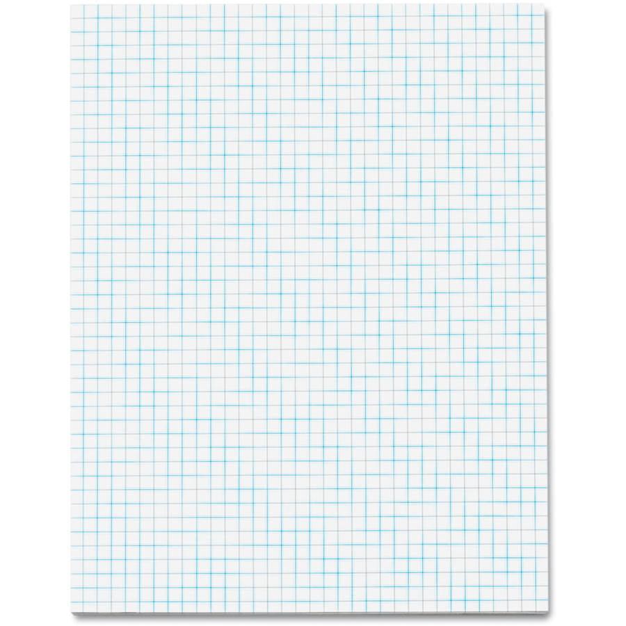 "TOPS Quadrille Pad, 4"" Squares, 8-1/2 x 11, White, 50 Sheets"