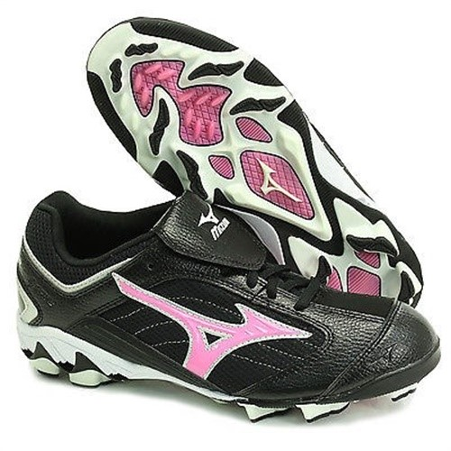 FINCH BY MIZUNO 320340 WOMEN'S SOFTBALL CLEATS PINK BLACK SIZE 5 M by Mizuno