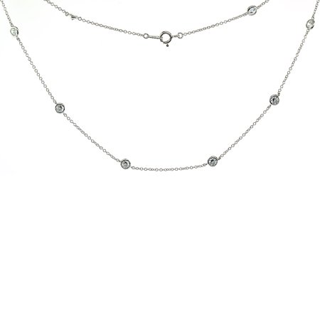Sterling Silver Cubic Zirconia 4mm 'Diamond By The Yard' Necklace, 16, 18, 20, 22, 24, 36, 40 inches long