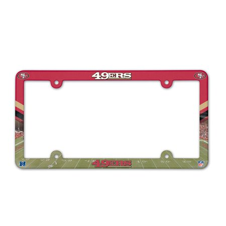 - San Francisco 49ers Official NFL 12 inch x 6 inch Plastic License Plate Frame by Wincraft