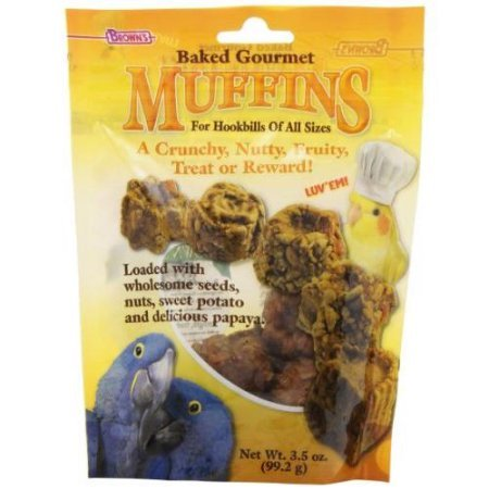 F.M. Browns Baked Gourmet Muffins For Hook Bills Bird Treat, 3.5-Ounce Fm51573