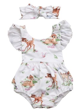 28f4eb2f03cd Product Image StylesILove Infant Baby Girl Ruffled Cap Sleeve Sunsuit Romper  with Self-tied Headband 2 pcs