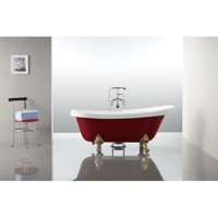 Vanity Art 67'' x 31.5'' Freestanding Soaking Bathtub