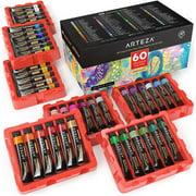 Arteza Gouache Paint Art Supply Set, 12ml Tubes - 60 Piece