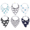 Baby Bandana Drool Bibs for Boys & Girls 6 Pack  Taylor Set  by Mumby