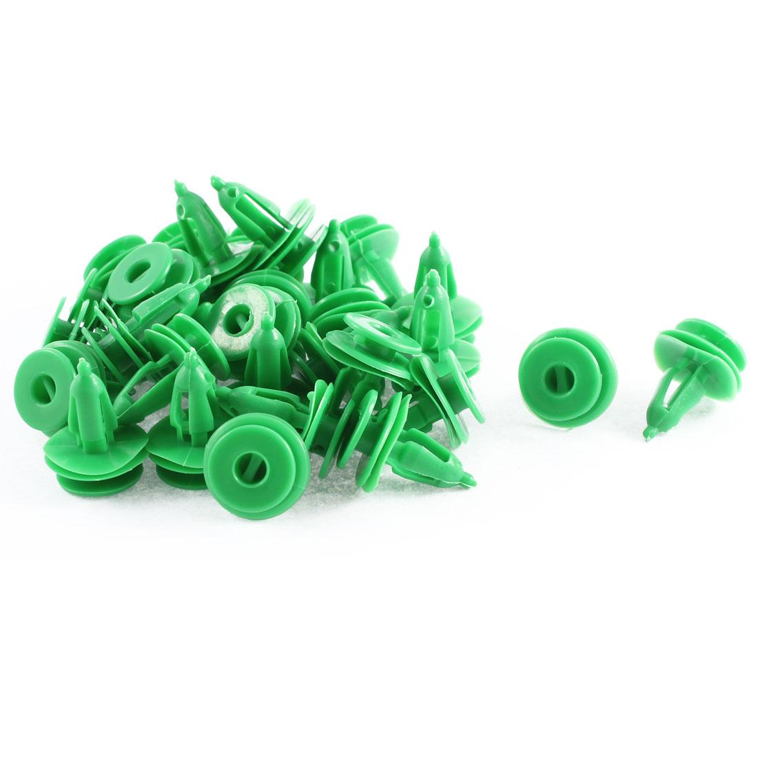 30 Pcs Green Plastic Splash Defender Moulding Fastener Mat Clips