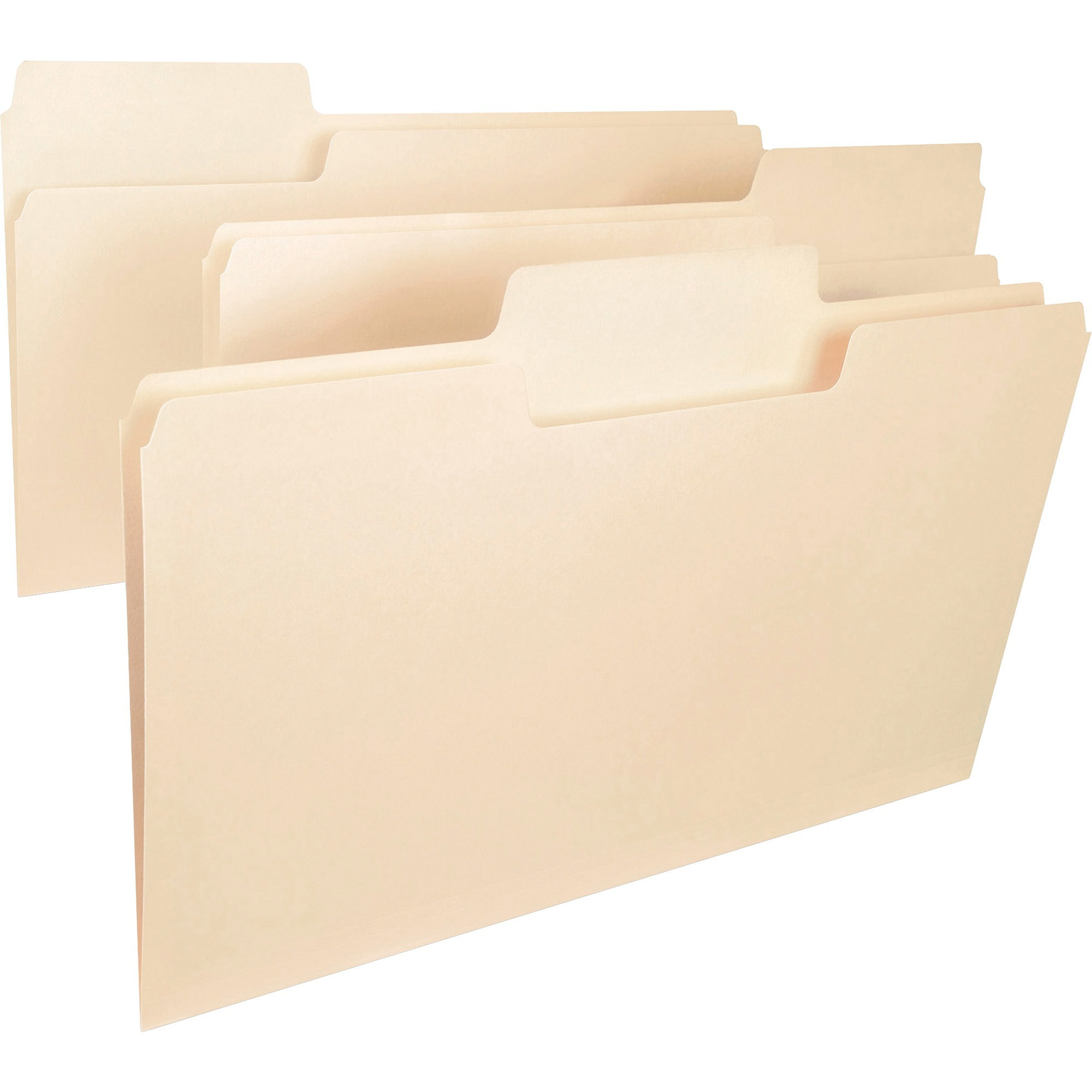 Smead SuperTab® Heavyweight File Folder, Oversized 1/3-Cut Tab, Legal Size, Manila, 50 Per Box (15401)