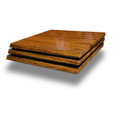 WraptorSkinz PS4 Pro Skin Wrap Wood Grain - Oak 01 - Decal Style Skin fits Sony PlayStation 4 Pro Console (Ps4 Wood Grain Skins)