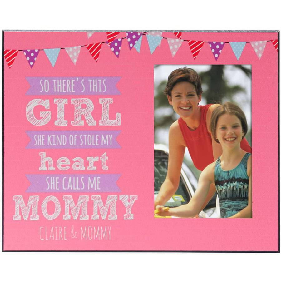 Personalized Stolen Heart Photo Frame, Girl