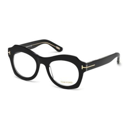 (TOM FORD Eyeglasses FT5360 005 Black 49MM)
