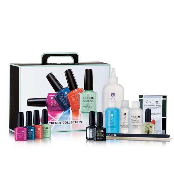 CND Creative Nail Design Soak Off Gel Polish Shellac Trendy Collection Pack