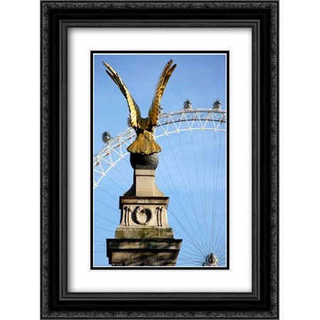 206 Matt - London Eye 2x Matted 18x24 Black Ornate Framed Art Print by Millet, Karyn