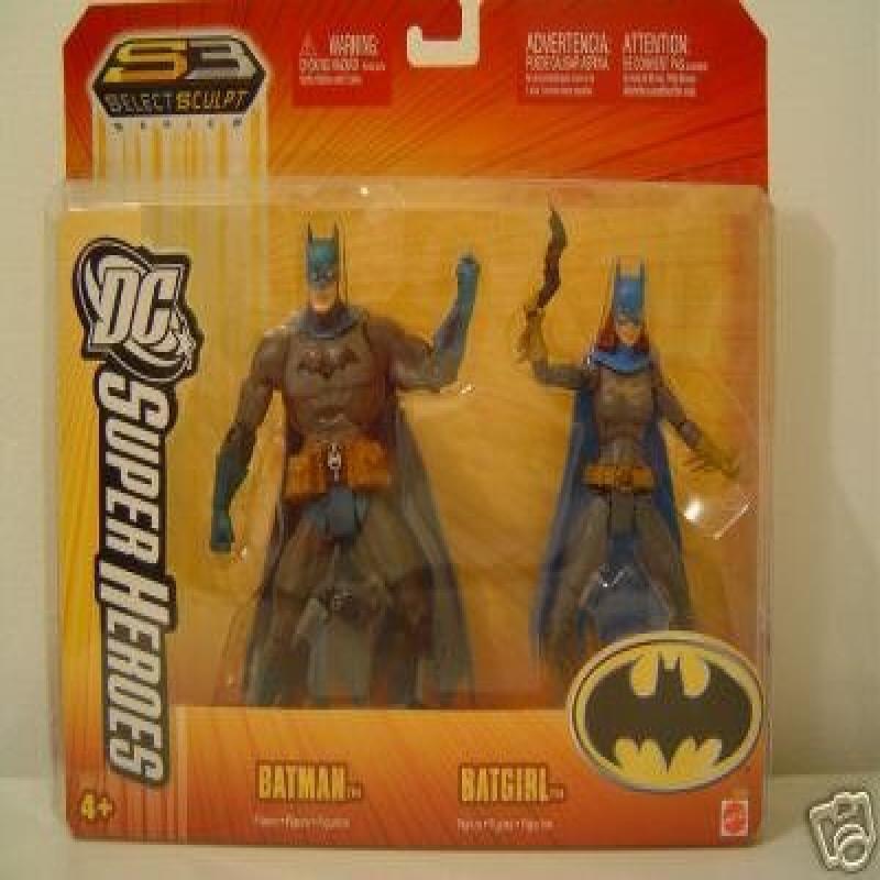 Batman Batgirl Mattel Dc Super Heroes Action Figure Set by