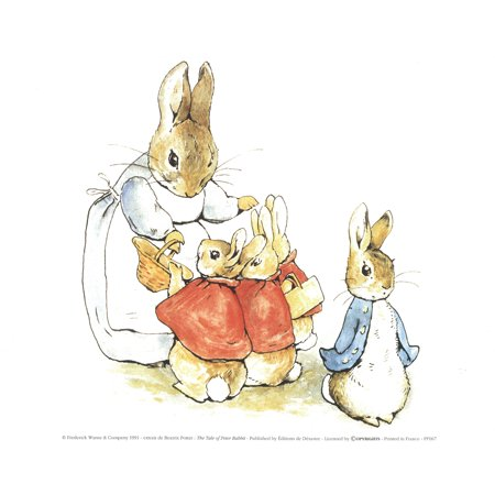 Beatrix Potter-The Tale of Peter Rabbit II-1991 Poster Beatrix Potter Mrs Rabbit