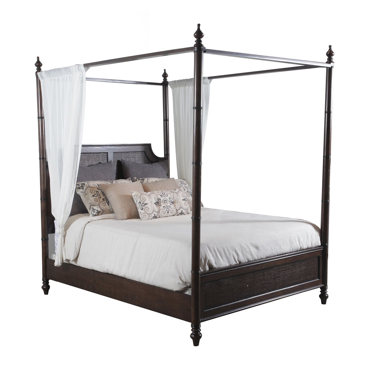 Powell Furniture Passages Queen Canopy Bed Cane