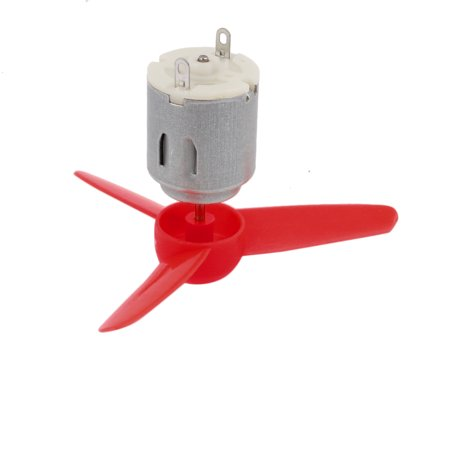 DC 3V 0.13A 17200RPM Strong Force Motor 3-Vane Red Propeller 80mmx2mm - image 1 of 5