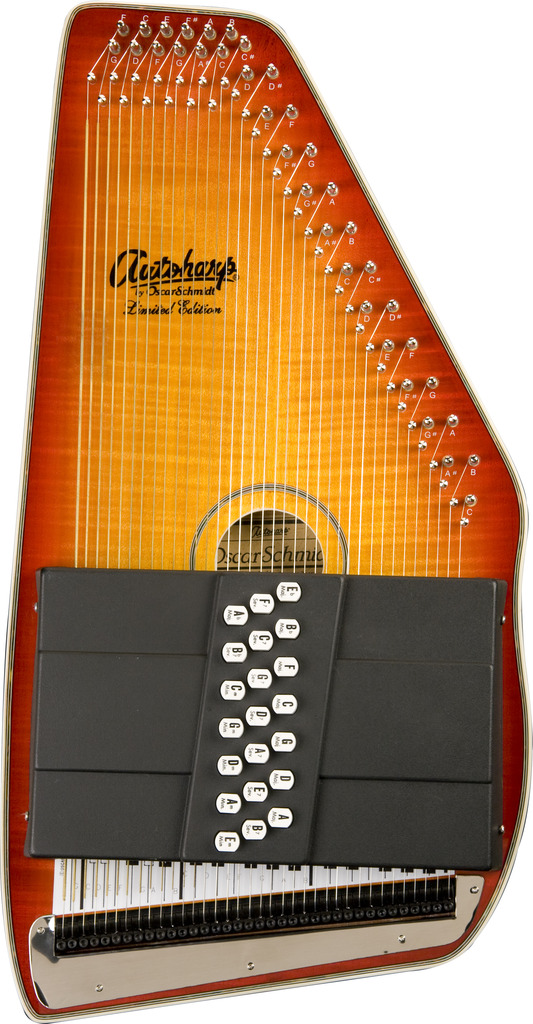 Oscar Schmidt 21 Chord Autoharp, Flame Maple Top, Honey Sunburst, OS11021FHS by Oscar Schmidt