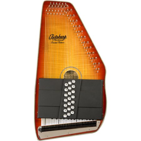 Sunburst Flame Maple Top (Oscar Schmidt 21 Chord Autoharp, Flame Maple Top, Honey Sunburst, OS11021FHS)