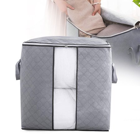 Hang Bin Clear Window - EEEKit Foldable Storage Bag Organizers,Waterproof Anti-Mold Moisture Proof Clothes Storage Container Zipper Bag with Clear Window Carry Handles for Blanket Comforter Bedding