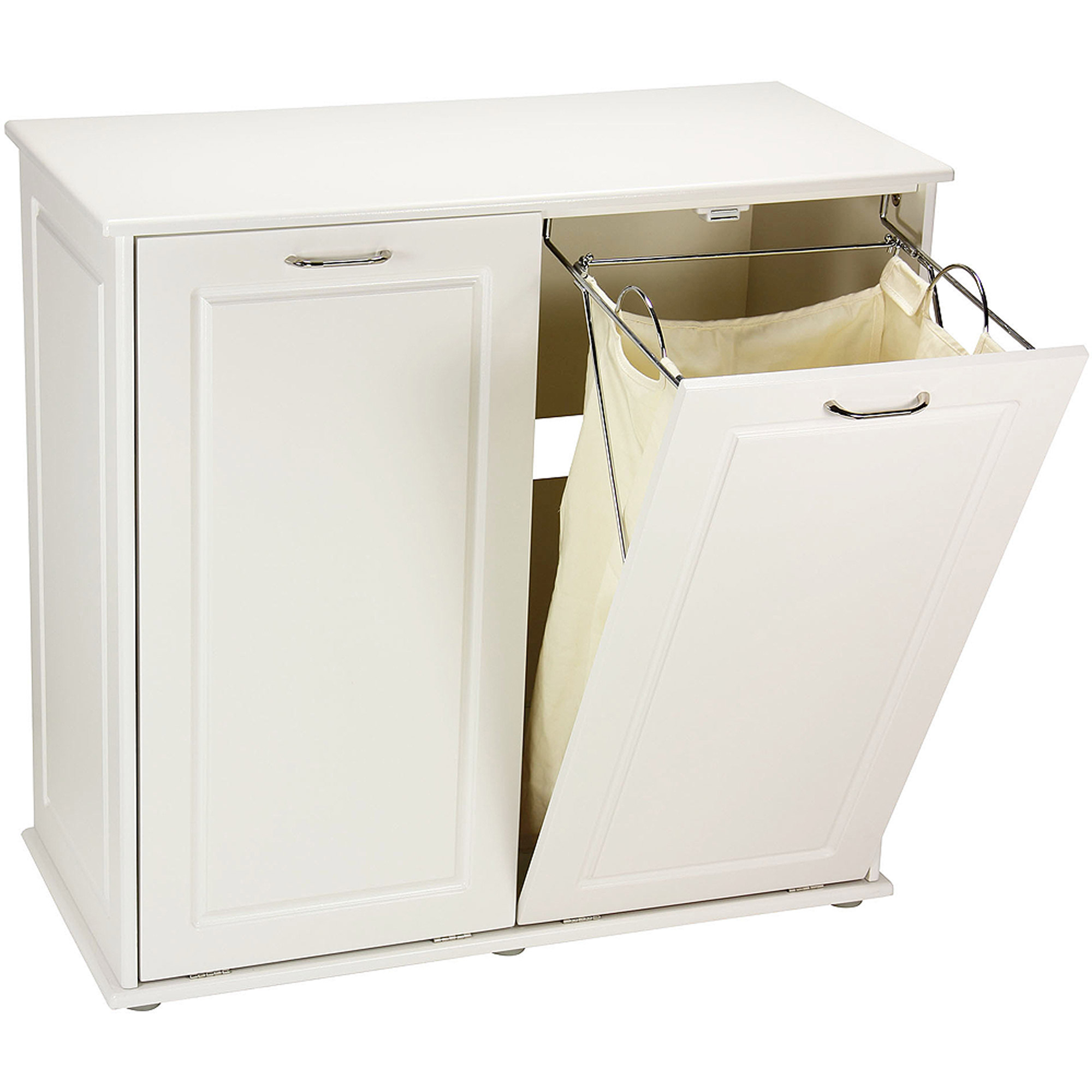 Hamper cabinet tilt out seeshiningstars - Tilt laundry hamper ...