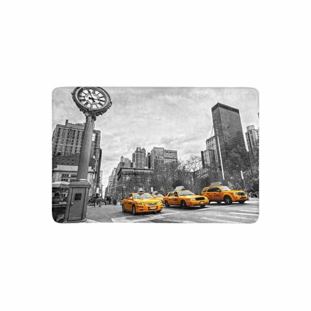 View Rub (MKHERT Yellow Taxi in Street View of NYC York City Doormat Rug Home Decor Floor Mat Bath Mat 23.6x15.7 inch )