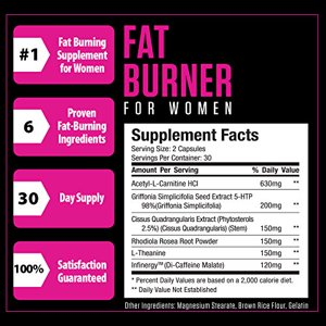 Sheer Fat Burner for Women - Fat Burning Thermogenic Supplement, Metabolism B...