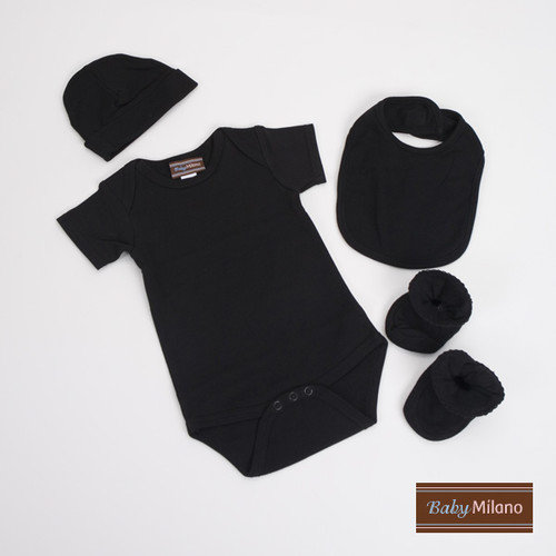 Baby Milano Unisex Baby Clothes Gift Set in Black