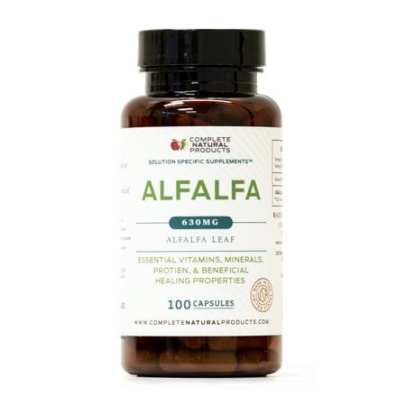 Pure Alfalfa Leaf (Medicago Sativa) - 100 Capsules - 460mg of Pure Dried Alfalfa Leaf Powder Tablets