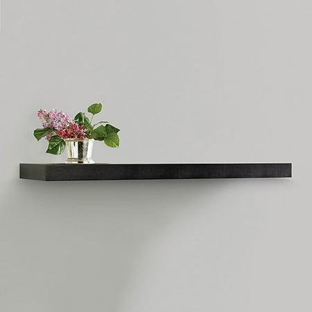 Inplace Shelving Floating Wood Wall Shelf 35 4 In W X 10 2 D