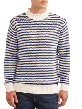 George Men's and Big Men's Stripe Sweater, up to Size 3XL