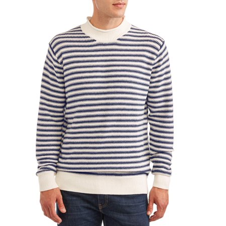 George Men's Stripe Sweater, up to size 3XL