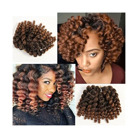 3 Packs 2X Ringlet Wand Curl JAMAICAN BOUNCE 8 inch Synthetic Hair Crochet Braids African Collection 22 roots #T30 - image 1 of 1