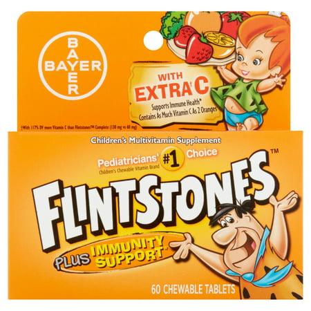 Flintstones plus l'immunité de soutien Supplément multivitamines pour enfants comprimés à croquer, 60 count