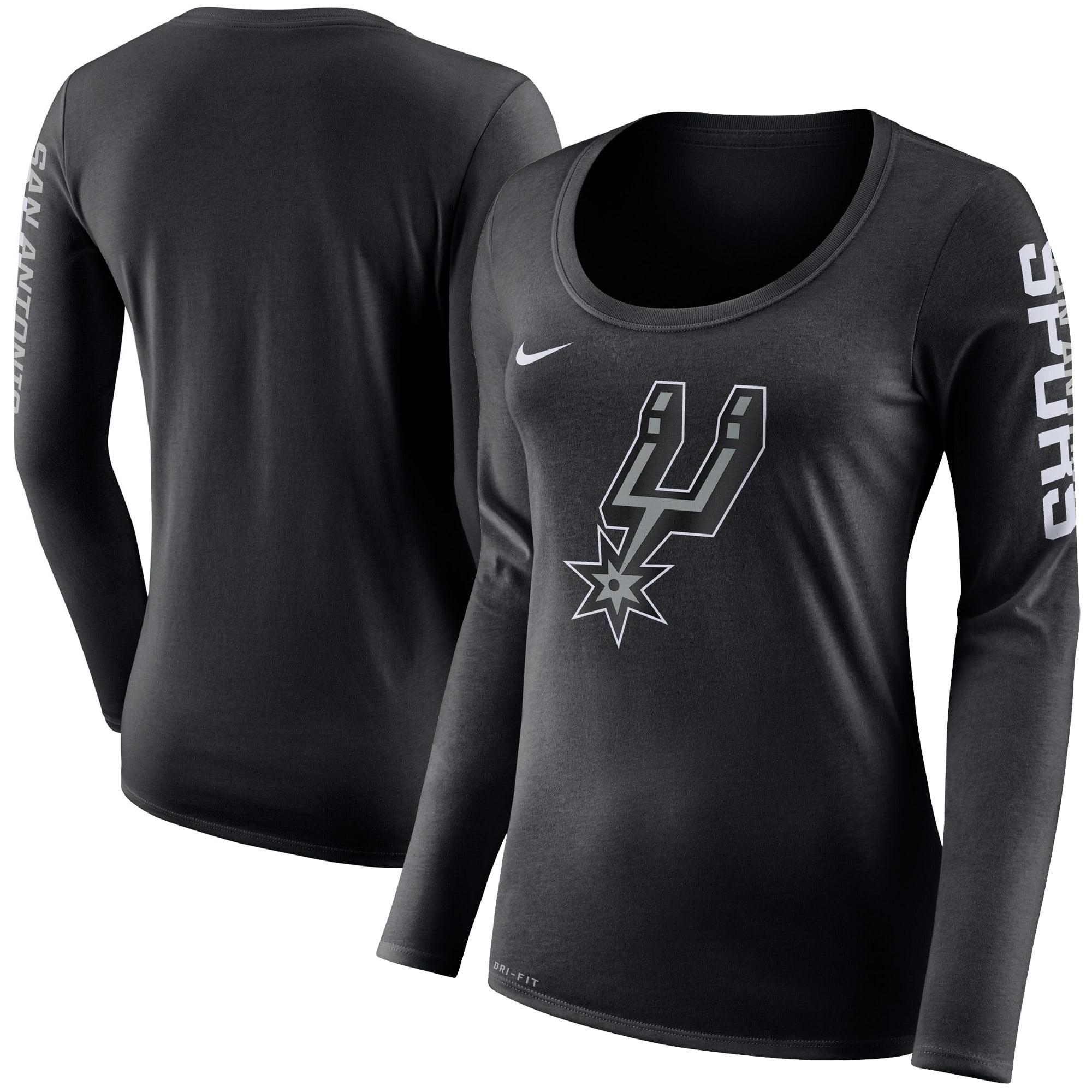 San Antonio Spurs Nike Women's Primary Logo Long-Sleeve T-Shirt - Black