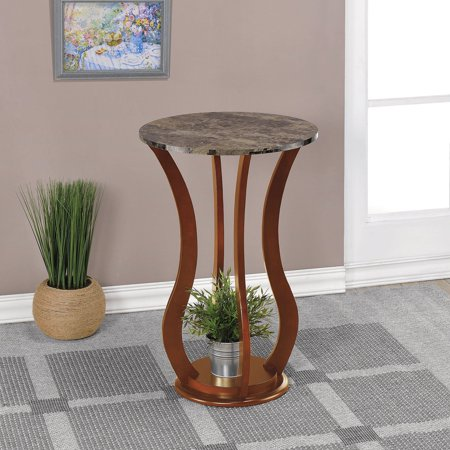 Coaster Furniture Chocolate Round End Table