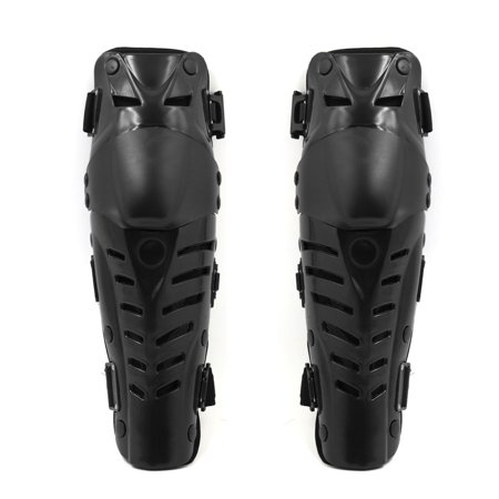 2pcs Black Motorcycle Racing Motocross Knee Shin Armor Pads Protector -