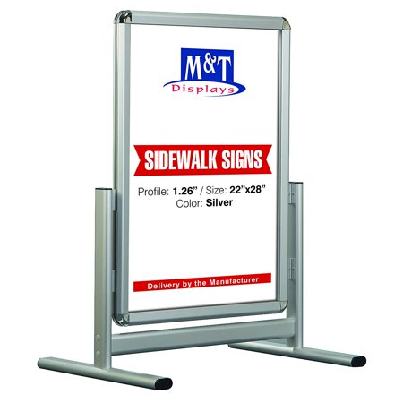 Al Maki Aluminum Sidewalk Display, Advertising Sign, 22